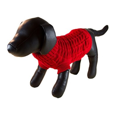 Petcessory DS1422BS Red Woolen Turtleneck Dog Sweater - Small