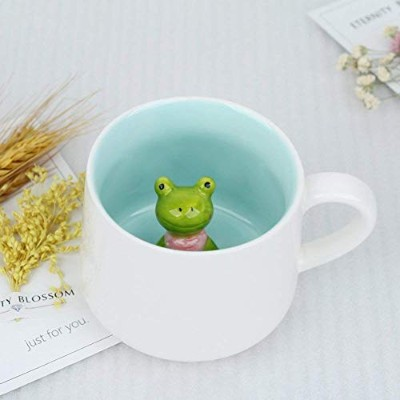 (Frog) - Surprise 3D Cartoon Miniature Animal Coffee Cup Mug with Baby Frog Inside - Best Office...
