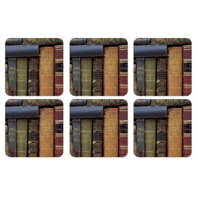 Pimpernel Archive Books Coasters - Set of 6