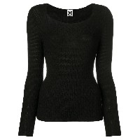 Missoni Vintage 1990's textured knitted blouse - Black