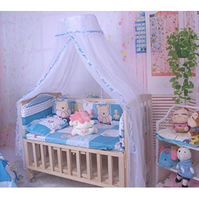 CdyBox Baby Breathable Mosquito Net Toddler Sleeping Bed Dome Crib Canopy Netting Palace-style Lace...