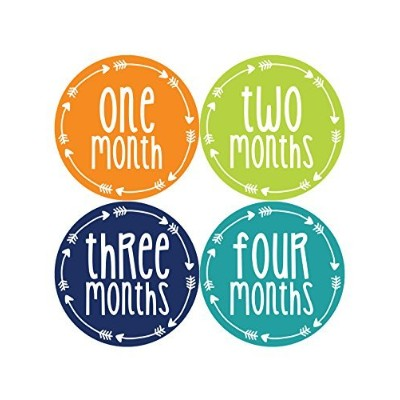 Months in Motion 1016 Monthly Baby Stickers Baby Boy Month 1-12 Milestone Sticker by Months In...