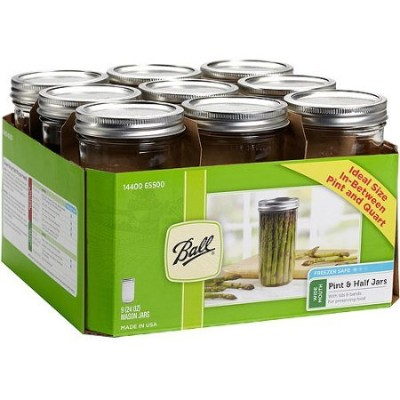 (2) - JARDEN HOME BRANDS 1440065500 Ball Wide Mouth Mason Jars, 710ml(Pack of 9) (2)