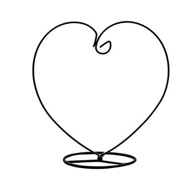 (Heart-1) - Archi Heart-shaped Ornament Display Stand Iron Pothook Stand for Hanging Glass...