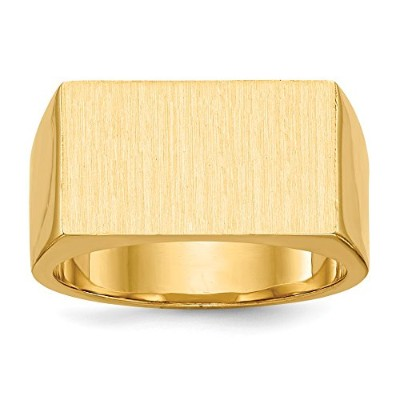 Beautiful Yellow gold 14K Yellow-gold 14k Men's Signet Ring comes with a Free Jewelry Gift