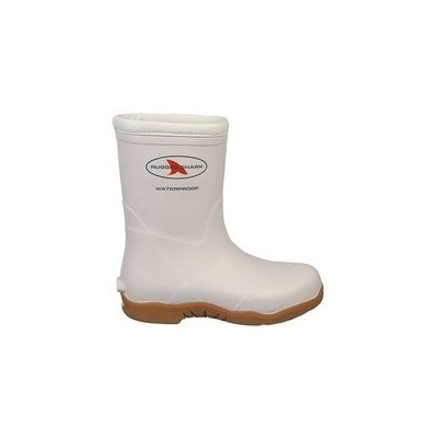 (13 D(M) US, White) - Rugged Shark Premium Fishing Deck Boot with All-Day Comfort Footbed