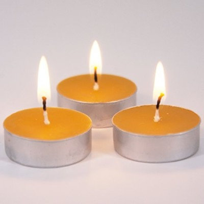Beeswax Tea Lights - Lead Free Wick - 100% Beeswax Candles - 20 Pack