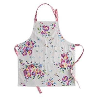 Maison d' Hermine Rose Garden 100% Cotton Apron with an adjustable neck & Visible centre pocket...
