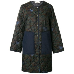 Odeeh quilted coat - グリーン