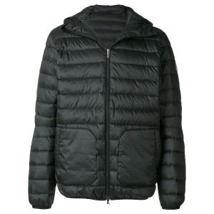 Pyrenex quilted hooded coat - ブラック