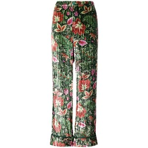 F.R.S For Restless Sleepers velvet floral trousers - グリーン