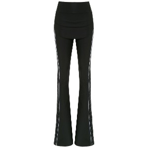 Andrea Bogosian flared trousers - ブラック