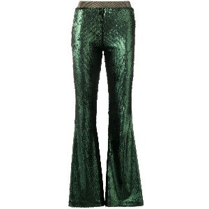 Black Coral sequinned trousers - グリーン