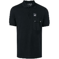 Raf Simons X Fred Perry logo patch polo shirt - ブラック