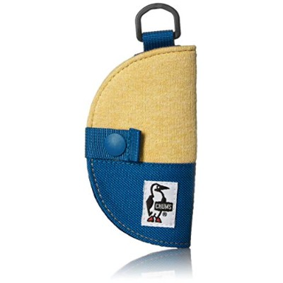 [チャムス]キーケース Half-moon Key Case Sweat Nylon H Barley/Blue Planet