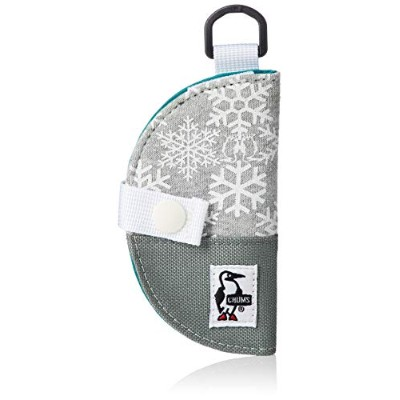[チャムス]キーケース Half-moon Key Case Sweat Nylon Snowflake