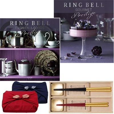 CONCENT・リンベル RING BELL カタログギフト クエーサー&マーキュリー+箔一金箔箸セット