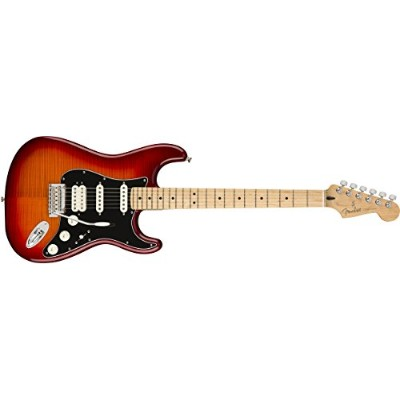 Fender エレキギター Player Stratocaster® HSS Plus Top, Maple Fingerboard, Aged Cherry Burst