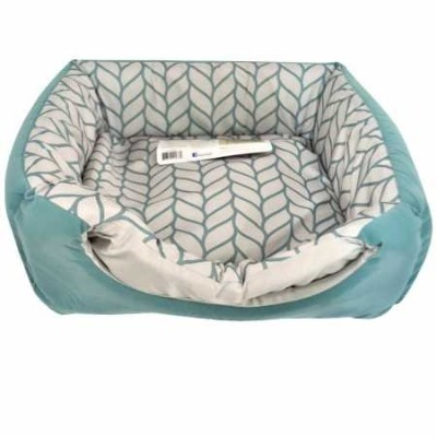 Petlink System Double Dreamer 2 in 1 Convertible Bed Plush Comfort Surf Leaf