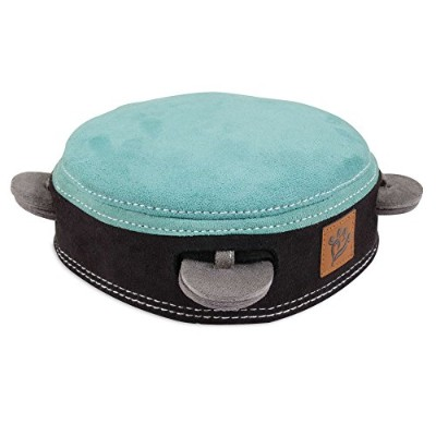 Muttnation 31875 Tambourine Suede Dog Toy, Turquoise