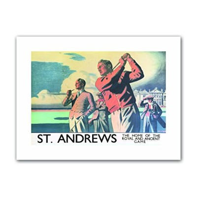 St Andrews Scotland Golf Royal Ancient Game Travel Sport Canvas Art Print