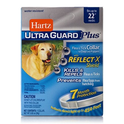 Hartz Ultraguard Plus Reflecting Flea &Tick Dog Collar by HARTZ