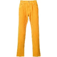 President'S Icarus corduroy cropped trousers - オレンジ