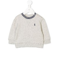 Ralph Lauren Kids logo sweater - グレー