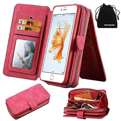 iPhone 6s Plus Case ケース, Wallet Leather Magnetic Purse Clutch Flip Credit Card for 6Plus 6sPlus