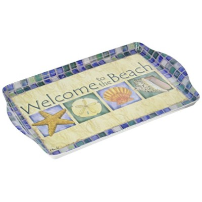 """15"""" Welcome to the BeachメラミンServing Tray"""