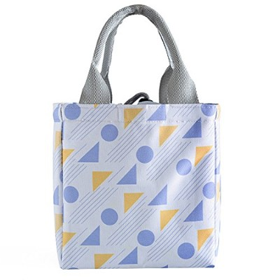 oyachic熱ランチバッグInsulated Tote Leakproof巾着バッグFoilライナー付きのオフィス、学校とピクニック ブルー