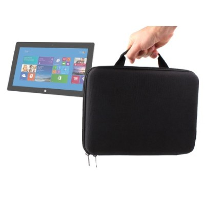 DURAGADGET SleekクラシックブラックExecutiveスタイルRigid Protective Carry Case withハンドルfor Microsoft 7zr-00014...