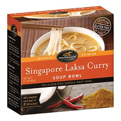 Snapdragon Singapore Curry Rice Noodle Soup Bowl 2.1Oz–パックof 6