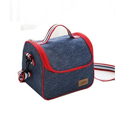 yueke Thermal Insulated Lunch BagランチボックスOffice WorkメンズレディースTeensボーイズGirls with Adjustable Shoulderスト...
