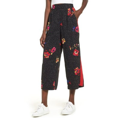 ビーピー レディース レギンス ボトムス BP. Side Stripe Floral Print Pants Black Speckled Floral