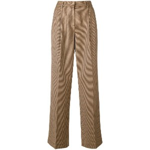 Twin-Set checked wide leg trousers - ニュートラル