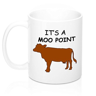 Funny Friends Showコーヒーマグ–It 's A Moo Point–Inspired byラインからJoeyから友達、恋人友人のため、11オンス
