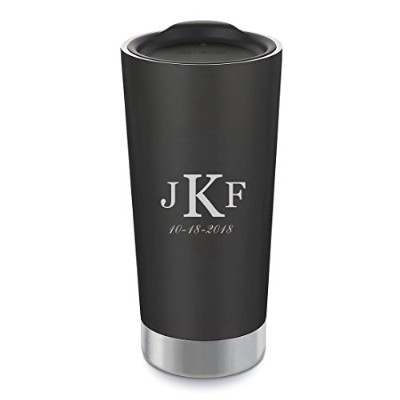 Personalized Klean Kanteen Shaleブラック591ml真空断熱タンブラーwith Free Engraving