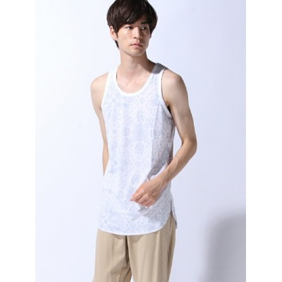 【SALE/30%OFF】ZIP FIVE (M)ZIP FIVE 裏プリントロングタンクトップ(4) ジップファイブ カットソー【RBA_S】【RBA_E】
