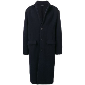 Falke classic single-breasted coat - ブラック