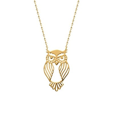 Collier Brillaxis hibou plaqué or