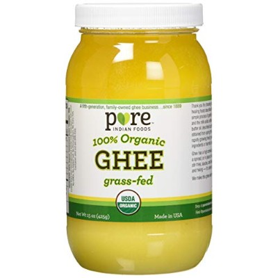Pure Indian Foods 100% Organic Ghee Clarified オーガニック 有機ギー 精製バター 425g