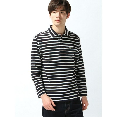 LACOSTE (M)ボーダーポロシャツ (九分袖) ラコステ カットソー【送料無料】