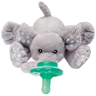 Nookums Paci-Plushies Elephant - Universal Pacifier Holder by Nookums