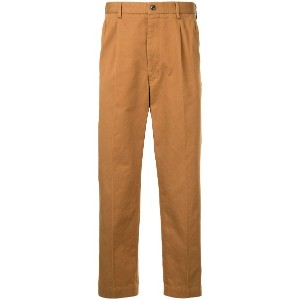 United Arrows cropped straight trousers - ブラウン