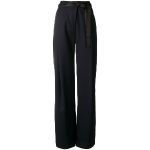 Eudon Choi high waisted slack trousers - ブルー