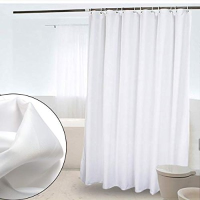 CRW White Shower Curtain Liner Mildew Resistant Waterproof Polyester for Bathroom Fabric Curtains...