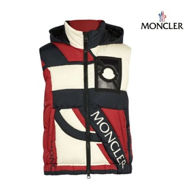 MONCLER モンクレール 5 MONCLER CRAIG GREEN Permit hooded down-filled gilet ダウンベスト メンズ ブラック 2018-2019年秋冬新作