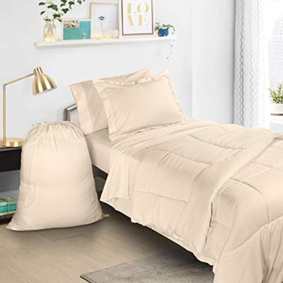 Claraクラーク6Piece Bed In Aバッグ寝具布団セット、ツイン/XL Twin/X-Large オフホワイト Van_us_biab-txl-cream