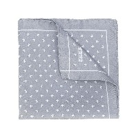 Fefè butterfly print pocket square - グレー